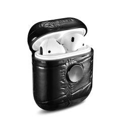 Vente chaude de bonne qualité d'impression de crocodiles de la main en cuir véritable Spinner écouteurs Airpods de cas Cas