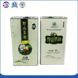 純粋なオリーブ油のためのLeakproof金属の缶5リットル