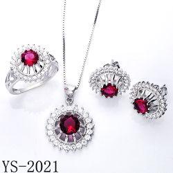 Hot Sale Ruby Zircon bijoux Set pour la femme