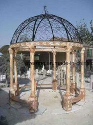 Steingartengazebo-Abdeckung-Dach-Pavillion für Verkauf mit Weiß-/Sonnenuntergang-Rot-Marmor