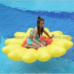 190cm Sun Flower piscina inflable gigante de flotación nadar Anillo para playa colchoneta tumbona