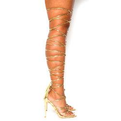 卸し売り女性の靴ストラップの女性靴のハイヒールの方法はサンダルに蹄鉄を打つ