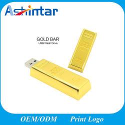 Водонепроницаемый Mini USB Pen Drive Gold Бар USB Flash Disk металлические USB Memory Stick™