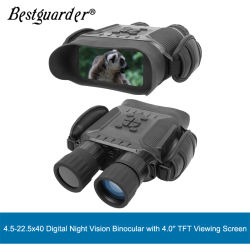 "4 "" 400mまでのTFTの表示と双眼Bestguarder 4.5-22.5 x 40デジタル夜間視界"