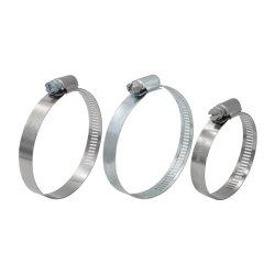 Un tipo (americano) de hierro galvanizado de acero de W1 y W2 W4 Preforated de acero inoxidable de 8mm y 11,7mm tubo flexible de la banda de la abrazadera del tubo de engranaje helicoidal