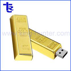 Simulación de metal de la barra de oro de alta memoria Flash USB Pen Drive