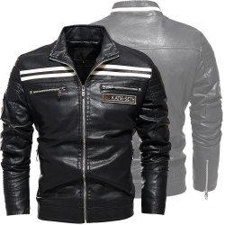 가을과 겨울 남자의 Colthing 외투 기관자전차 가죽 재킷 PU 가죽 재킷