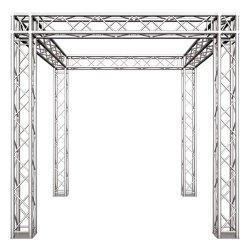 Venta caliente Círculo de aluminio Pitón de iluminación Sistema de visualización de la armadura de escenario al aire libre para la venta
