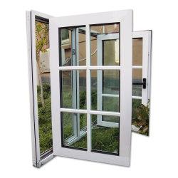 Preço baixo vinil PVC Casement portas deslizantes e Windows com rede mosquiteira