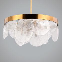 型様式の円形の水晶シャンデリアの居間ランプのペンダント灯