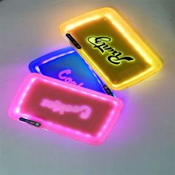 Vassoio con zavero a LED con logo stampato, vassoio rotante, accessori per fumatori personalizzati