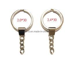 Divida o anel da chave com os elos da corrente de ferro Key Ring definir teclas de Negócios Attachment