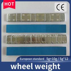 I pesi adesivi della rotella del tecnico di assistenza della fabbrica da vendere la rotella del peso di equilibratura del ferro parte il peso di equilibrio