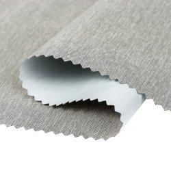 100% poliéster reciclado planicie PU impermeable transpirable lechoso tela revestida