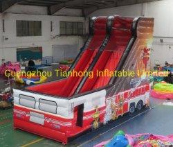 8X3.5m caminhão de incêndio insufláveis gigantes deslize Bouncer insufláveis deslize