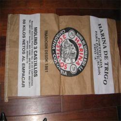 Sac de papier kraft en polypropylène tissé pour l'alimentation