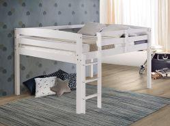 أثاث غرفة النوم، أثاث غرفة المعيشة، سرير جونيور علوي، أبيض كامل