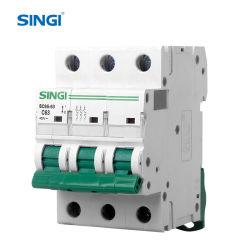 C65 63A 10ka MCB IEC60898 Unterbrecher-Sicherung