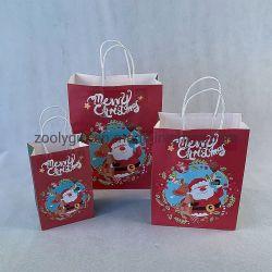 クリスマスのギフト袋の休日のティッシュペーパー袋および平らな覆い クリスマスペーパーバッグセット