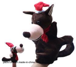 Regalo de navidad en forma de mano y dedos de los animales de peluche Peluche marioneta