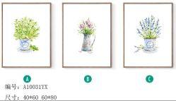 زخرفيّة حديثة جديدة تصميم زهرات الصورة زيتيّة, نوع خيش صورة زيتيّة