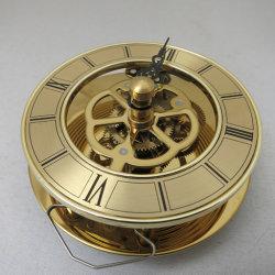 뼈 시계 타원 다이얼 메탈을 사용한 쿼츠 클럭 이동 삽입 시계