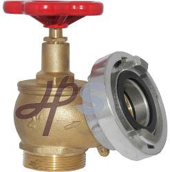 2'' et 21/2'' le robinet du flexible d'incendie en laiton avec bouchon en aluminium