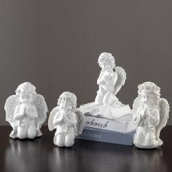 Polyresin 천사 동상 선물 수지 훈장 천사 작은 조상