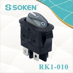 DpstのKcの証明書16A 250VACが付いている軽いロッカースイッチ