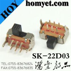 Микро DIP переключатель/кулисный переключатель с металлический кожух (СК-22D03)