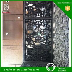 304 201 Brass Folha Perfurada tela de aço inoxidável para restaurante decorando