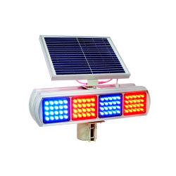Aviso Solar piscando em âmbar, Vermelho e Azul com 8 lâmpada LED duplo