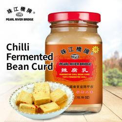 Cagliata di fagioli fermentati di Chili 288g Pearl River Bridge Brand Chinese Tofu condimento fermentato