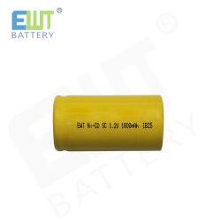1,2V 1800mAh batterie rechargeable NiCd Subc cellule à dessus plat