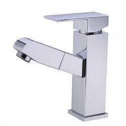 Contemporâneo de latão Alavanca Única Níquel escovado puxar de banho torneiras de Bacias Hidrográficas