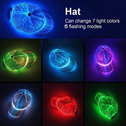 새로운 패션 LED 조명 깜박이는 모자 야구 모자 파티 스타일