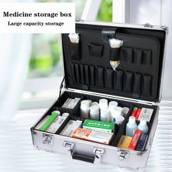 Medizin-Speicher-Haushalts-Medizin-Kasten-Emergency Rettungs-Aluminiumlegierung-medizinisches Kasten-Großräumiges Krankenhaus-medizinischer Besuchs-Kasten