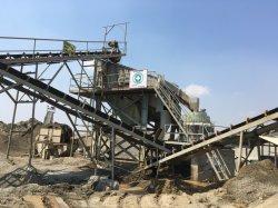 O cone de pedra rio/Jaw Britagem/planta do triturador de cascalho e máquina de moagem para Site de agregados