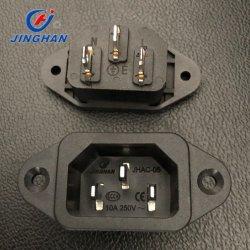 مقبس طاقة ذو 3 سنون Jinghan in-Outlet ذكر من النوع AC 250 فولت