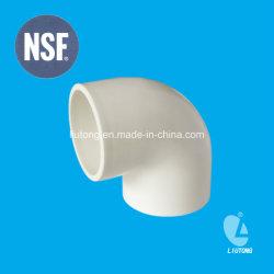 와 함께 물을 공급하기 위한 PVC 90도 엘보 ASTM D2466 표준 NSF 인증서