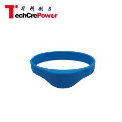 Hf водонепроницаемой силиконовой UHF RFID браслет, силиконовый браслет - Голубой 2