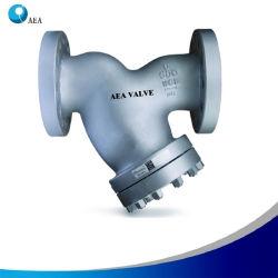 Couvercle en acier inoxydable en fonte vissé côté flasque de la densité de la crépine renouvelables Y de la crépine de filtration industrielle avec grillage de 5 microns