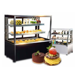 Fábrica china Venta caliente pastel expositor frigorífico de pantalla con el mejor servicio y el bajo precio