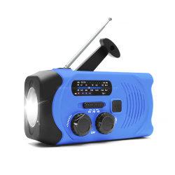新しい屋外のキャンプの太陽手動クランクAM FMの多機能の携帯用ダイナモは緊急の極度のトーチが付いている懐中電燈によって動力を与えられるラジオを終わらせる
