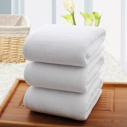 卸売の100%年の綿のホテルのテリータオルの白いビーチタオル