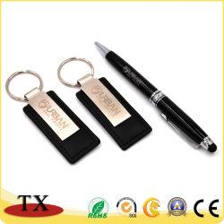 Spezielles Metallleder-Schlüsselkette mit Metallclip und -feder