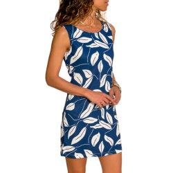 أقل سعر النساء ورقة عادية طباعة قصيرة على التوالي اللباس