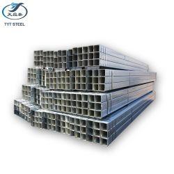 Usine de corps creux en acier galvanisé panneaux de clôture de la taille de tuyaux en acier galvanisé pré laminés à froid de tubes rectangulaires pré galvanisé