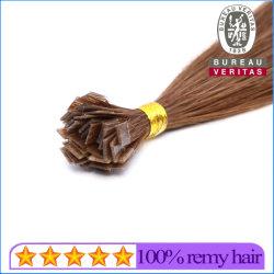 Color marrón en todos los colores de punta plana brasileño Remy Extensiones de Cabello Cabello virgen