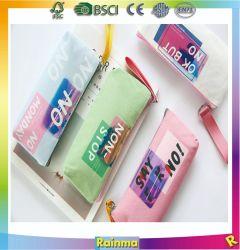 Carta de la bolsa de lápiz láser de gran capacidad de lienzo de la bolsa de papel de Estudiante caso Lápiz